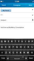 BlackBerry Z30 - Email - Sending an email message - Step 9