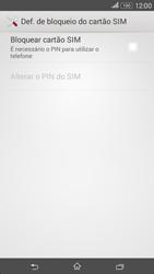 Sony Xperia E4 - Segurança - Como ativar o código PIN do cartão de telemóvel -  6