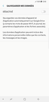 Samsung N950F Galaxy Note 8 - Device maintenance - Back up - Étape 9