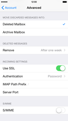 Apple iPhone 6 Plus iOS 8 - Email - Manual configuration IMAP without SMTP verification - Step 24