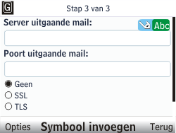 Nokia C3-00 - E-mail - Handmatig instellen - Stap 9