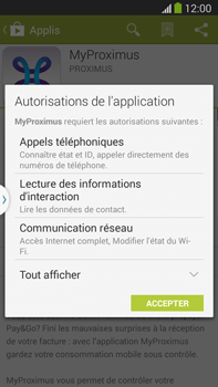 Samsung I8190 Galaxy S III Mini - Applications - MyProximus - Étape 8