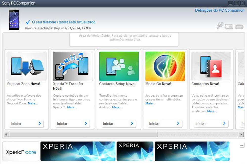 Sony D2105 Xperia E1 Dual - Funções básicas - Como atualizar o software do seu aparelho - Etapa 4