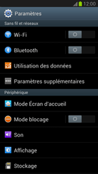 Samsung N7100 Galaxy Note II - Wifi - configuration manuelle - Étape 3