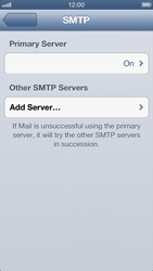Apple iPhone 5 - Email - Manual configuration - Step 15