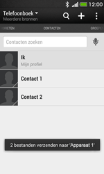 HTC Desire 500 - Contactgegevens overzetten - delen via Bluetooth - Stap 12