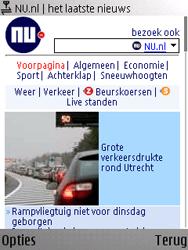 Nokia E66 - Internet - Hoe te internetten - Stap 16