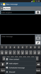 Samsung I9205 Galaxy Mega 6-3 LTE - Mms - Sending a picture message - Step 9