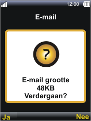 Sonim XP3300 Force - E-mail - E-mails verzenden - Stap 21