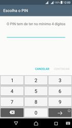 Sony Xperia X Dual SIM (F5122) - Segurança - Como ativar o código de bloqueio do ecrã -  8
