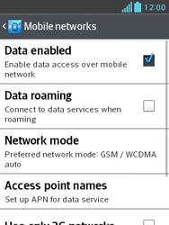 LG E430 Optimus L3 II - Internet - Enable or disable - Step 6