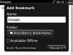 BlackBerry 9700 Bold - Internet - Internet browsing - Step 6
