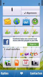 Nokia C6-00 - MMS - afbeeldingen verzenden - Stap 1