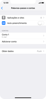 Apple iPhone X - iOS 12 - Email - Configurar a conta de Email -  26
