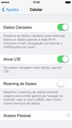 Apple iPhone iOS 7 - Rede móvel - Como ativar e desativar uma rede de dados - Etapa 4