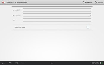 Samsung P7500 Galaxy Tab 10-1 - E-mail - Configuration manuelle - Étape 9