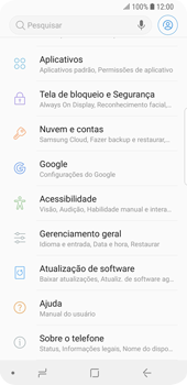 Samsung Galaxy S9 - Primeiros passos - Como encontrar o número de IMEI do seu aparelho - Etapa 4