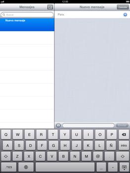 Apple iPad 2 - Mensajería - Escribir y enviar un mensaje multimedia - Paso 4