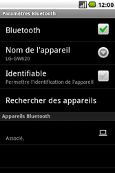 LG GW620 - Bluetooth - connexion Bluetooth - Étape 12