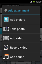 Sony ST21i Xperia Tipo - MMS - Sending pictures - Step 11