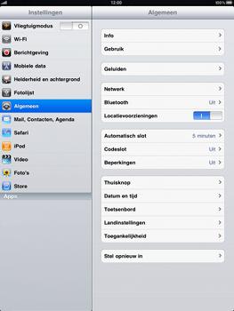 Apple iPad - Bluetooth - Aanzetten - Stap 2
