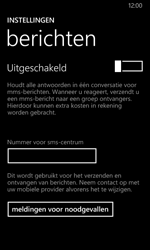 Nokia Lumia 635 - SMS - SMS-centrale instellen - Stap 6