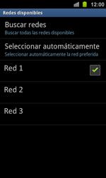 Samsung I8160 Galaxy Ace II - Red - Seleccionar una red - Paso 10
