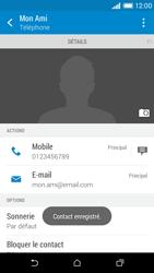 HTC Desire 610 - Contact, Appels, SMS/MMS - Ajouter un contact - Étape 13