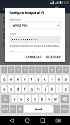 LG K8 - Wi-Fi - Como usar seu aparelho como um roteador de rede wi-fi - Etapa 8