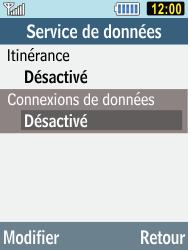 Samsung C3590 - Internet et connexion - Désactiver la connexion Internet - Étape 7