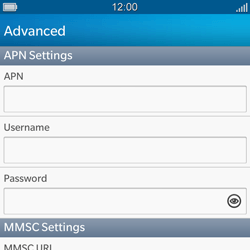 BlackBerry Q5 - Mms - Manual configuration - Step 9