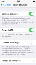 Apple iPhone 5 iOS 7 - Internet - activer ou désactiver - Étape 4