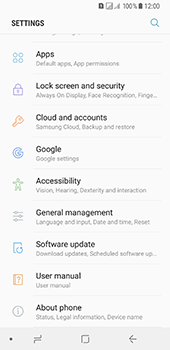 Samsung Galaxy A8 (2018) - Device - Reset to factory settings - Step 5