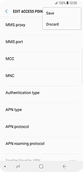 Samsung Galaxy S9 - Internet - Manual configuration - Step 16