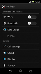 Sony C1905 Xperia M - MMS - Manual configuration - Step 4