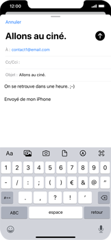 Apple iPhone XR - iOS 13 - E-mail - envoyer un e-mail - Étape 7