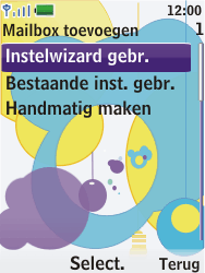 Nokia 7310 supernova - E-mail - Handmatig instellen - Stap 9