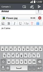LG F70 - E-mails - Envoyer un e-mail - Étape 18