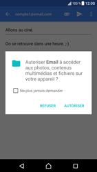 Sony Xperia XZ (F8331) - E-mail - Envoi d