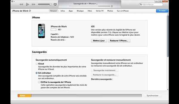 Apple iPhone XS - iOS 12 - Aller plus loin - Gérer vos données avec un ordinateur - Étape 6