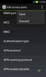 Acer Liquid Z4 - Mms - Manual configuration - Step 15
