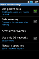 Samsung S5660 Galaxy Gio - Network - Usage across the border - Step 6