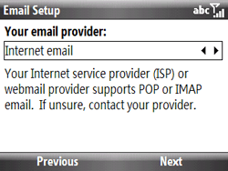 HTC S521 Snap - E-mail - Manual configuration - Step 7