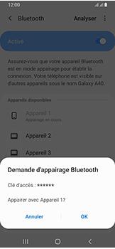 Samsung Galaxy A40 - Bluetooth - connexion Bluetooth - Étape 10