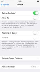Apple iPhone iOS 8 - Rede móvel - Como ativar e desativar uma rede de dados - Etapa 4