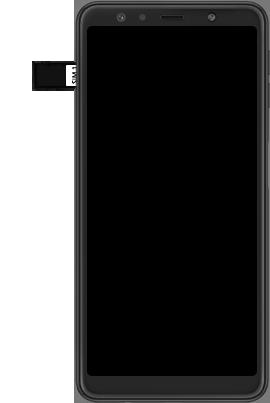 Samsung Galaxy A7 (2018) - Toestel - simkaart plaatsen - Stap 7