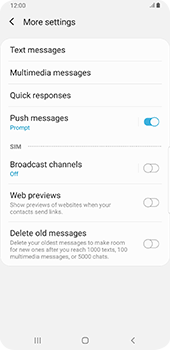 Samsung galaxy-s9-plus-android-pie - SMS - Manual configuration - Step 7