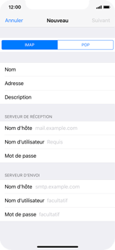 Apple iPhone X - E-mail - Configuration manuelle - Étape 10