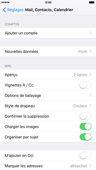 Apple iPhone 6 Plus iOS 9 - E-mail - Configurer l