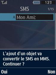 Samsung Solid 271 - Contact, Appels, SMS/MMS - Envoyer un MMS - Étape 10